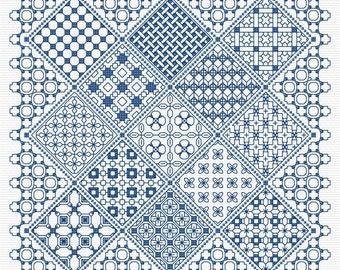 Blackwork Panel 2 PDF chart, pattern