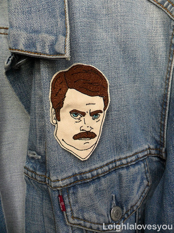 Ron Swanson Embroidered Patch/Brooch