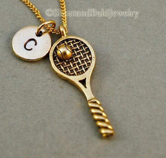 Tennis necklace tennis racket necklace tennis ball tennis like this item aloadofball Images