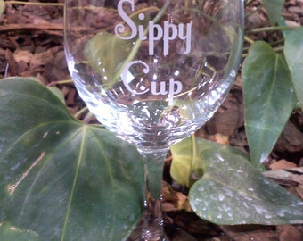 Grandma's Sippy Cup (or any variation you prefer) 19 Ounce Wine Glass