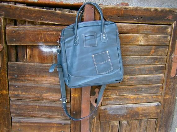 Business Laptop Messenger Bag , Handmade Gray Laptop bag, Genuine Leather office Bag, Casual Bag