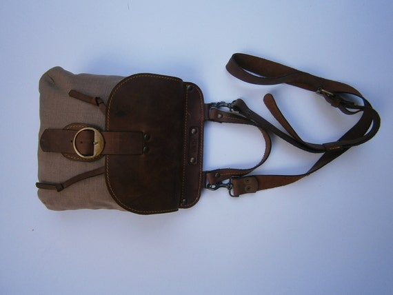 Canvas Satchel, Cross Body Pouch, Handbag,Handmade Bag, Canvas and Leather Crossbody Bag,Custom order Bag,Casual Bag