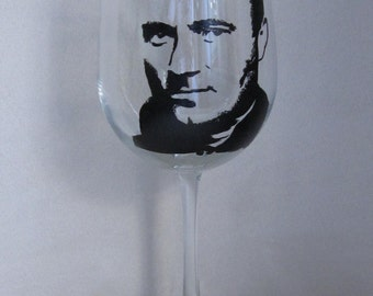 Hand Painted Wine Glass - PHIL COLLINS, Singer, Songwriter