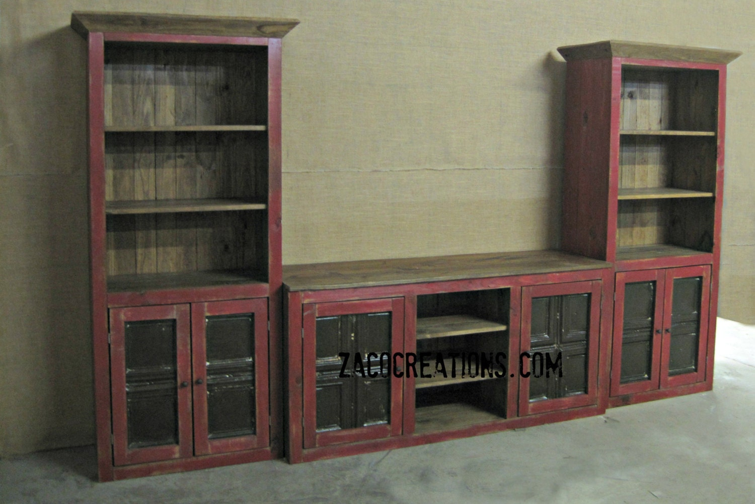 Large Media Center Tv Stand With Shelves Entertaiment Center