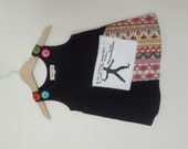anarchist flowers button dress, size 12-18mo.