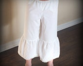 Custom Vintage Ivory Ruffled Pantalettes Pantaloons toddler girls by Steady As She Goes 2T 3T 4 5 6 7 8 10 12 theater Little House Prairie