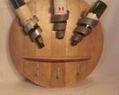 Wine Bottle display w/ Shelf & Hooks