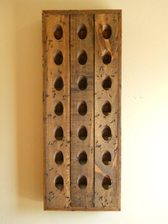 Riddling rack lookup beforebuying for Pottery barn wine rack wood