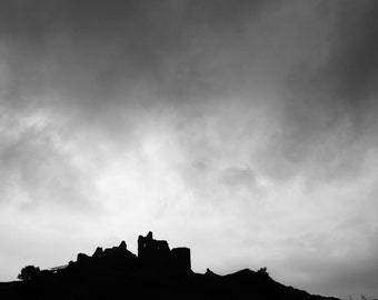 Carreg Cennen Castle Historical Architecture Photography Art - 8 x 10 Photo Image