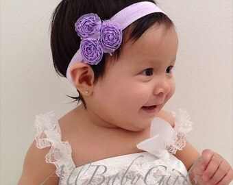 Purple Baby Headband, Baby Headband, Baby Headpiece, Purple Headband, Infant Headbands, Newborn Headband, Flower Headband, Toddler Headband