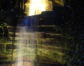 Waterfall - Beautiful Night Scape - Digital Instant Download