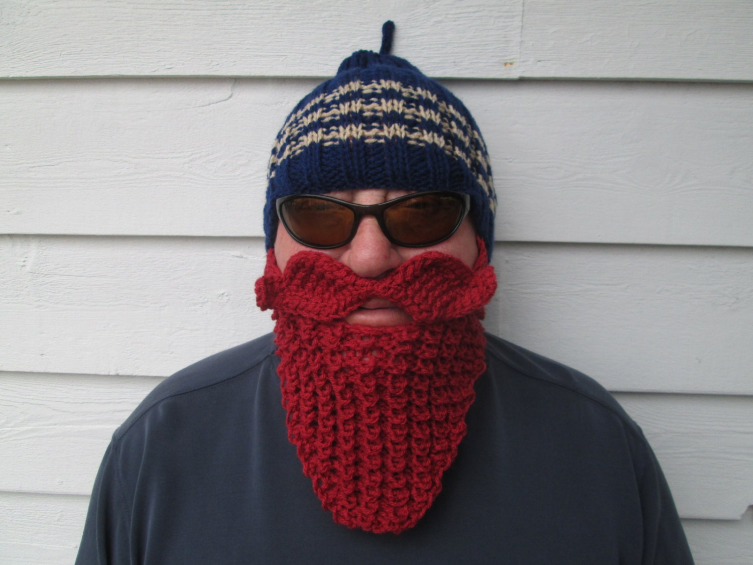 Knitted Viking Knitted Beard Hats Viking