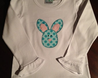 Bunny applique ruffle shirt