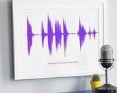 LARGE Personalised Your Voice Sound Wave Print A3. For Dad on Father's Day. For Men and Home - NewtonAndTheApple