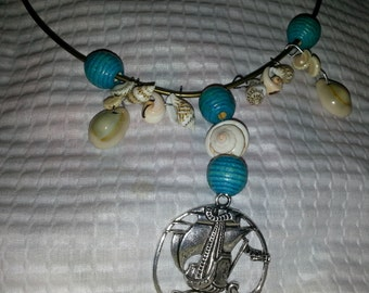 Ship and Shells Necklace (I 251)