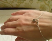 Silver plated Celtic heart chain bracelet or anklet-Sweet and delicate