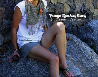 Frango, the self-fringing cowboy cowl / scarf / kerchief. PATTERN