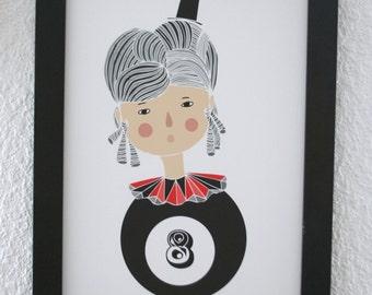 Print - Lucky 8 ball -