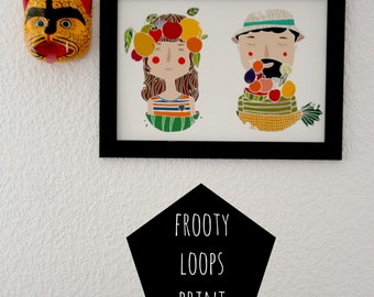 Fruits Print. Portrait Print.