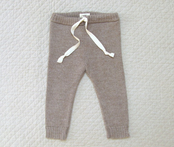 Drawstring Pants Baby Alpaca Wool Leggings For Babies And