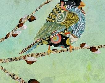 Art Print. Cafe Swirly Bird Dreamy Sky