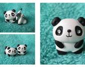 Panda Earrings. tween jewelry. teen jewelry. cute panda.cute earrings. handmade earrings. ear jacket