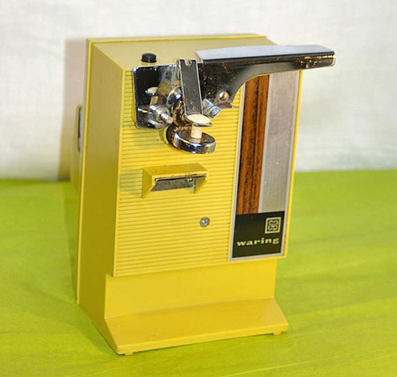 70s Waring Electric Can Opener Harvest Gold With By