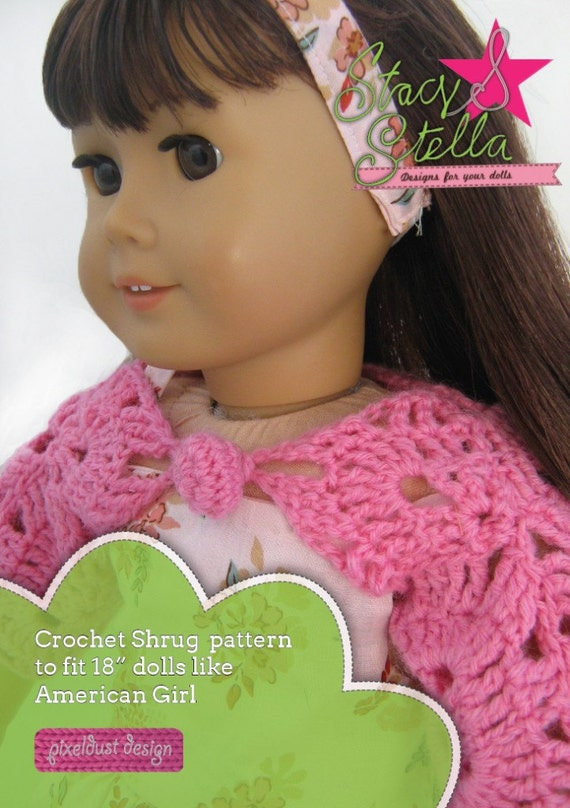 Pixie Faire Stacy And Stella Crochet Shrug Doll Clothes Pattern For