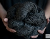 Wensleydale Wool Yarn Natural Black Fine Fiber