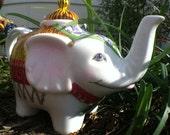 White Elephant Tea Pot - Hand Painted