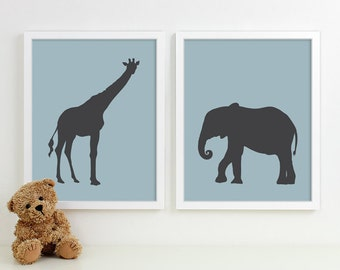 Baby Boy Nursery Art for Boys Room Decor, Baby Boy Gift for Boy, Boys Wall Art for Boy Nursery Decor Playroom Boys Art Safari