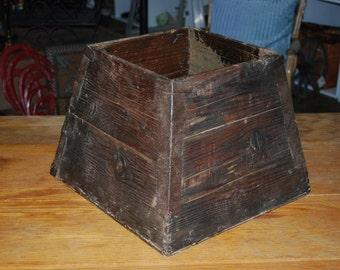 Wood Bucket Vintage Reclaimed Wood Bucket