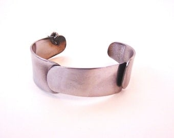 Metal Bracelet Cuff Made from Upcycled Stainless Steel