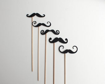 French / Parisian Styled Mustaches Photo Booth Prop Cut Outs