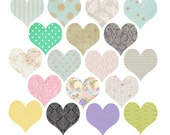 18 Piece Set // Clipart Hearts // Shabby Chic Clipart // Clipart Hearts // Wedding  // Love // 300dpi // png files // Instant Download