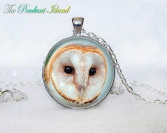 OWL PENDANT   owl necklace White owl Jewelry Necklace for him  Art Gifts for Her Art Gifts (P10012)