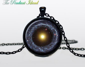 CONSTELLATION NECKLACE Nebula necklace Galaxy universe pendant for men constellation Serpens