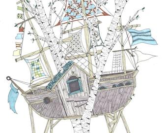Boathouse Illustration