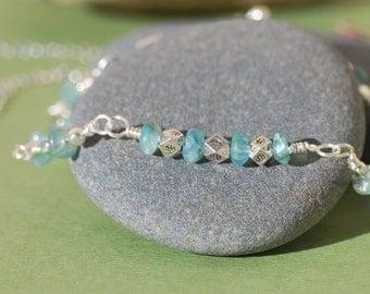 Apatite & Thai Bead Bracelet