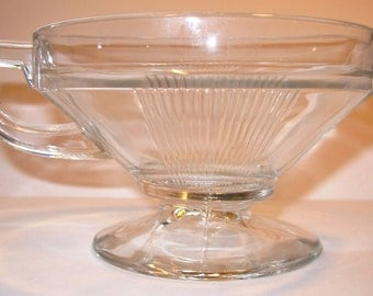 Depression Glass Creamer, Art Deco Ribbed Pattern