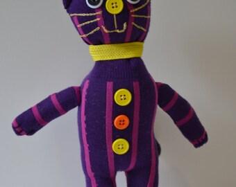 Purple Happy-go-Lucky Bear