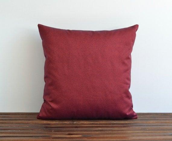 Denim Pillow 20x20 Maroon Modern Decorative Pillow For Couch