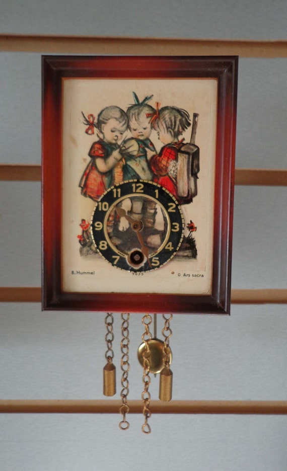 Items Similar To Miniature Wall Mounted B Hummel Clock