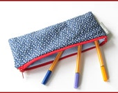 Pencil case, anchor blue white red, cotton, writing-case, maritime - artenvielfalt