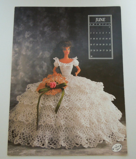 Annies Attic Crochet Pattern - Miss June 1991 - Annies Calendar Bed...