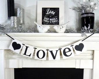 Wedding Garland/ Love Banner/ Photo Prop- Valentine's/ Home Decor/ New Baby/ Family/ Wedding Shower Decoration