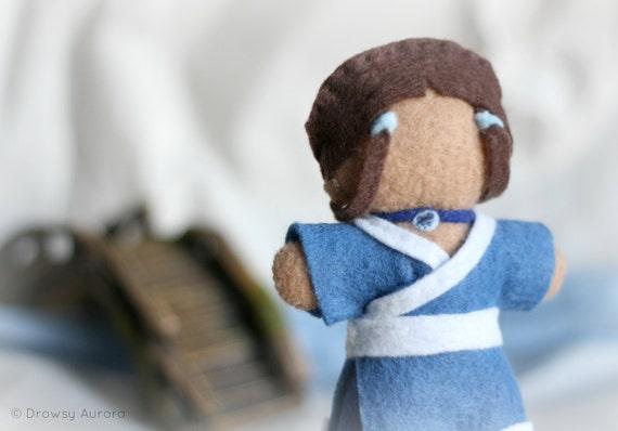 Avatar the last airbender felt doll hand sewn cartoon character