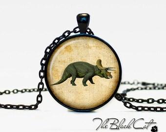 Dinosaur pendant Dinosaur necklace Dinosaur jewelry vintage style (PD006)