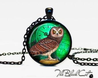 Steampunk Owl pendant Steampunk Owl necklace Steampunk Owl jewelry (POW0005)