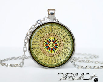 Steampunk Compass pendant Vintage Compass jewelry  Antique Style Compass Sea Monsters Antique Nautical Maps (PSC0001)